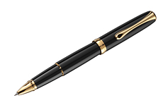 Diplomat Excellence A2 Black Lacquer Gold роллер