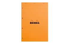 Rhodia №20 Pad Orange (21х31.8 см, в клетку, с перфорацией)